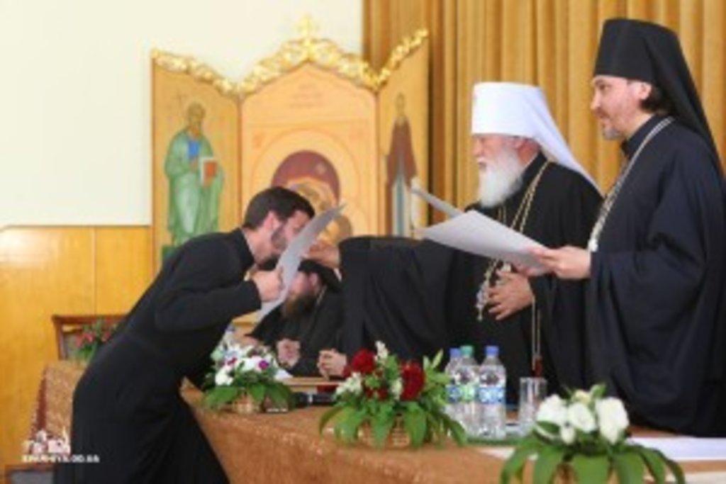 В день свт. Інокентія Херсонського митрополит Агафангел очолив випускний акт в ОДС