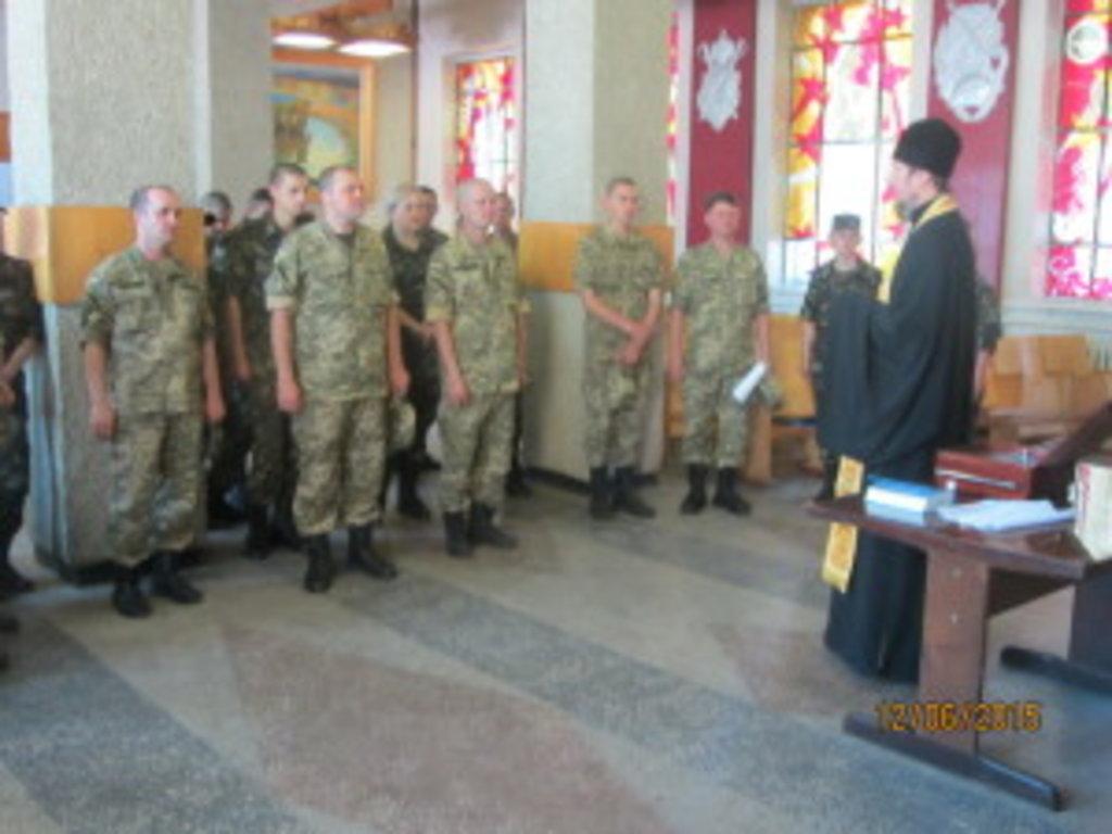 Протоієрей Костянтин Маслов відслужив для військовослужбовців 107-го реактивно-артилерійського полку в Кременчуці молебень