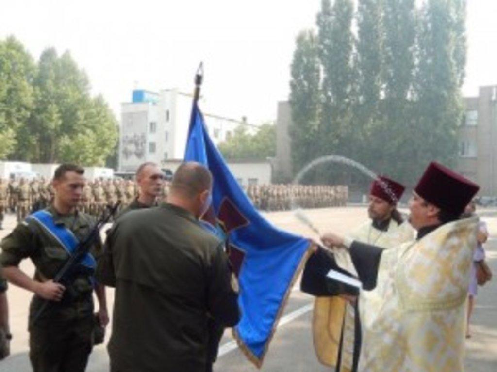 Освячення знамен запорізьких військових