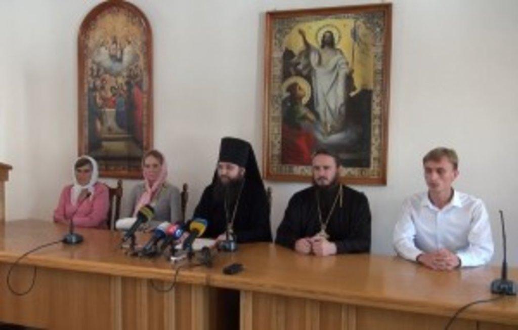 Брифінг очолив голова Синодального інформаційного відділу УПЦ, єпископ Ірпінський Климент