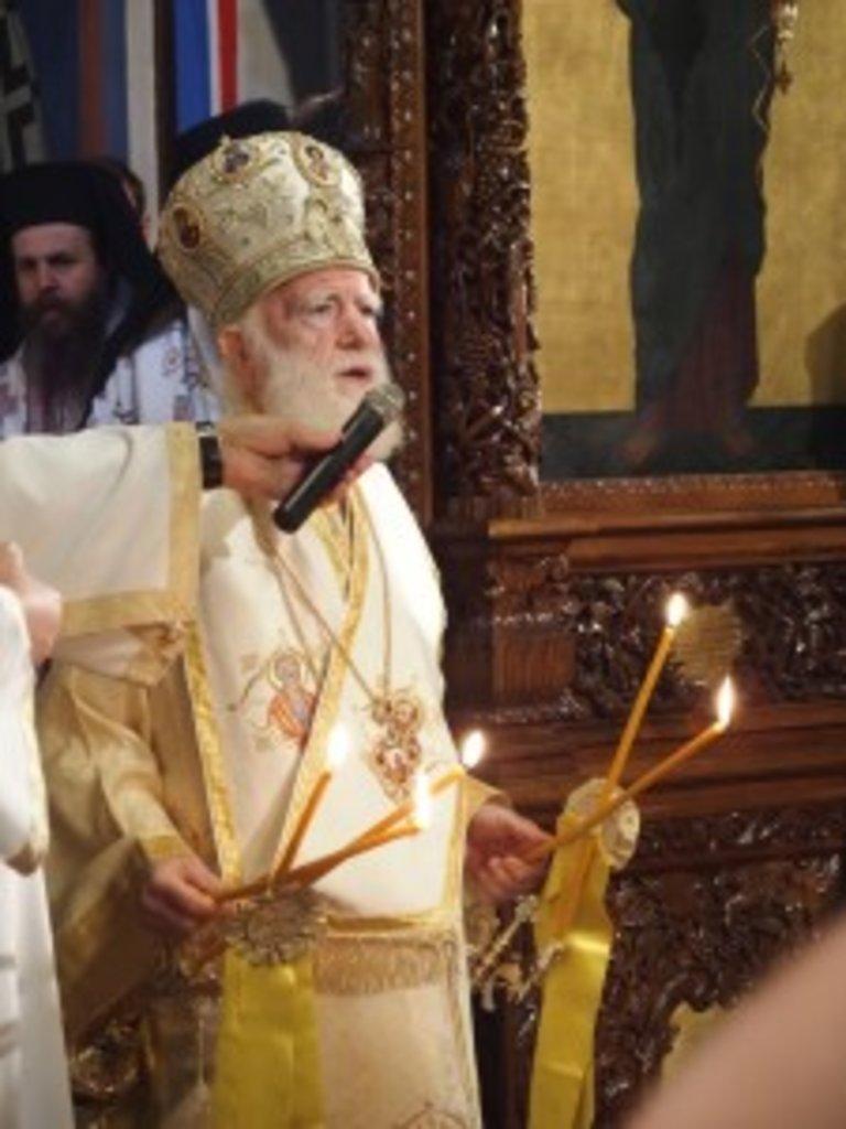 Предстоятель Критської Православної Церкви архієпископ Критський Іриней