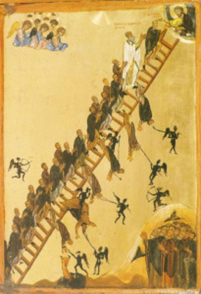 Іконографічне зображення Ліствиці, описаної прп. Іоанном