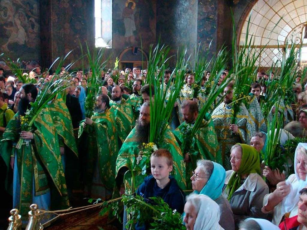Божественна літургія в Трапезному храмі Києво-Печерської Лаври на Трійцю