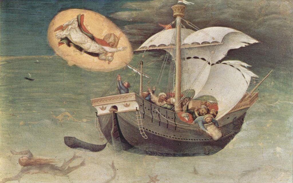 Джентиле да Фабриано. Спасение моряков. Ок. 1425