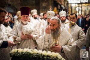 Напередодні Богоявлення Блаженніший Митрополит Онуфрій очолив всенічне бдіння у Києво-Печерській Лаврі
