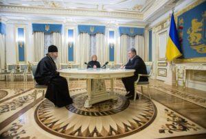 Блаженніший Митрополит Онуфрій зустрівся з Президентом України Петром Порошенко