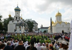 Предстоятель принял участие в праздничном богослужении в Троице-Сергиевой Лавре