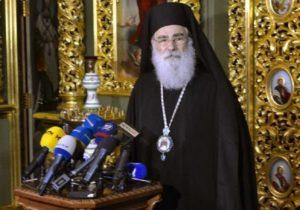 Митрополит Иерусалимской Церкви назвал Митрополита Онуфрия единственным каноническим главой православных Украины