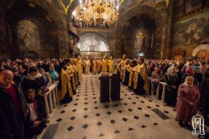 Накануне Недели 24-й по Пятидесятнице Предстоятель возглавил всенощное бдение в Киево-Печерской Лавре