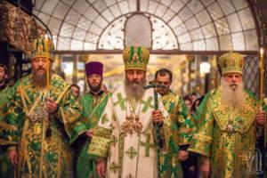 Блаженнейший Митрополит Онуфрий возглавил всенощное бдение накануне дня памяти преподобного Нестора Летописца