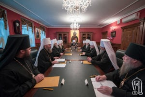 Журнали засідання Священного Синоду Української Православної Церкви від 13 листопада 2018 року