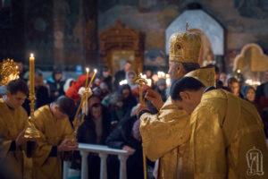 Предстоятель возглавил всенощное бдение накануне дня памяти апостола Андрея Первозванного
