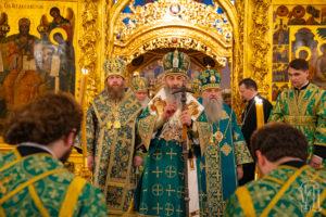 Блаженнейший Митрополит Онуфрий возглавил всенощное бдение в Троице-Сергиевой Лавре