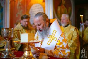 Блаженнейший Митрополит Онуфрий в Неделю 5-ю по Пятидесятнице возглавил Литургию в Киево-Печерской Лавре