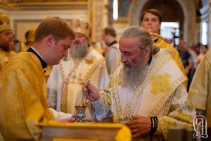 Накануне Недели10-й по Пятидесятнице Предстоятель совершил всенощное бдение в Киево-Печерской Лавре