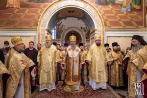 В Неделю перед Воздвижением Блаженнейший Митрополит Онуфрий возглавил Божественную литургию в Киево-Печерской Лавре (+видео)