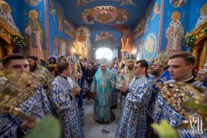 Предстоятель возглавил Божественную литургию в день престольного праздника в Академическом храме КДАиС (+видео)