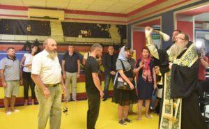 Чемпіон світу з боксу Василь Ломаченко взяв участь в освяченні нового спортзалу в Запоріжжі