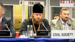 На совещании ОБСЕ в Варшаве глава Представительства УПЦ при международных организациях заявил о нарушении прав верующих УПЦ