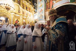 Напередодні свята Покрову Пресвятої Богородиці Предстоятель очолив всенічне бдіння у Києво-Печерській Лаврі