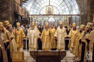 Блаженнейший Митрополит Онуфрий совершил всенощное бдение накануне дня памяти апостола Андрея Первозванного