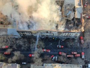 В Одесской епархии молятся о пострадавших во время пожара в Экономическом колледже и собирают помощь