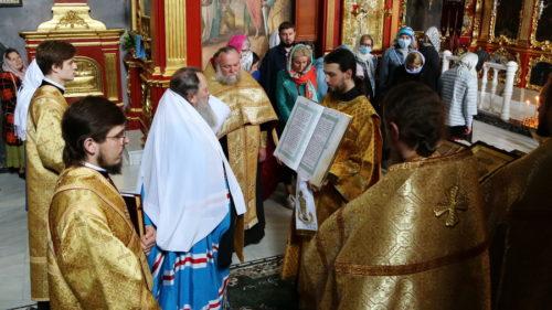 Наместник Киево-Печерской Лавры совершил благодарственный молебен за врачей