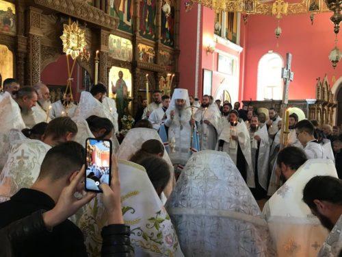 Предстоятель звершив відспівування намісника Хрещатицького монастиря архімандрита Серафима