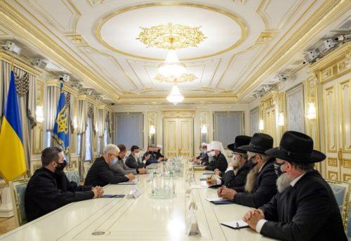 Блаженніший Митрополит Онуфрій взяв участь у зустрічі ВРЦіРО з Президентом України