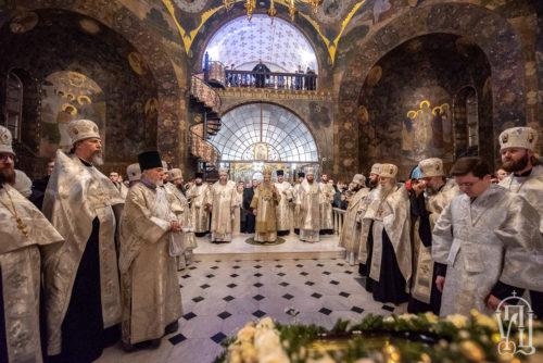 Напередодні Богоявлення Предстоятель очолив всенічне бдіння у Києво-Печерській Лаврі