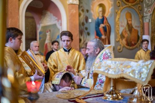 В Неделю по Богоявлении Блаженнейший Митрополит Онуфрий возглавил Божественную литургию в Киево-Печерской Лавре