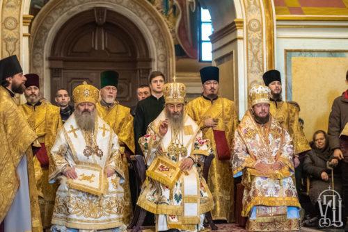У Неділю перед Богоявленням Предстоятель очолив Божественну літургію у Києво-Печерській Лаврі (+відео)
