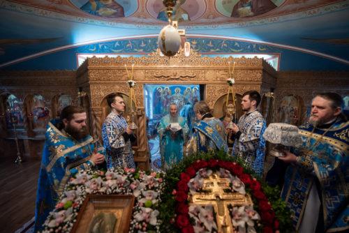 У свято Благовіщення Пресвятої Богородиці Предстоятель звершив Божественну літургію в Феофанії