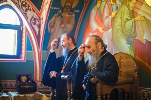 Предстоятель та архієреї УПЦ помолились за Літургією перед початком роботи Священного Синоду (+фото)