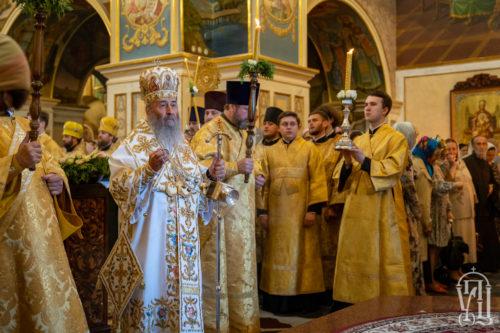 Накануне Недели 7-й по Пасхе Предстоятель возглавил всенощное бдение в Киево-Печерской Лавре