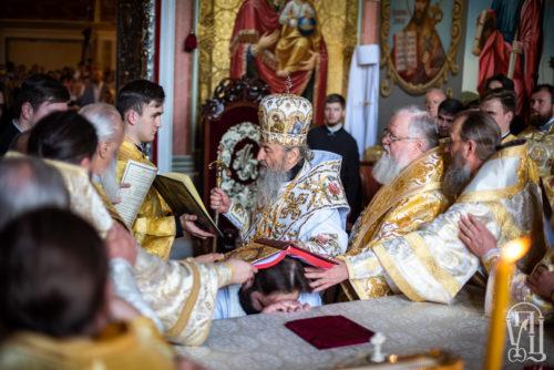 У Неділю 7-му після Пасхи Предстоятель очолив архієрейську хіротонію за Божественною літургією у Києво-Печерській Лаврі (+відео)