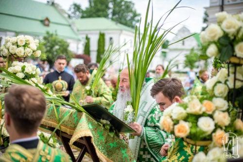У день Святої Трійці Предстоятель звершив Божественну літургію у Києво-Печерській лаврі (+відео)