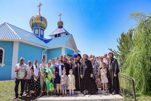 Митрополит Изюмский Елисей освятил храм в честь Успения Пресвятой Богородицы
