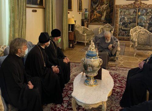 Керуючий справами УПЦ зустрівся з Патріархом Грузинським Ілією ІІ