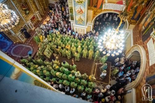 Предстоятель очолив всенічне бдіння напередодні дня пам'яті преподобного Антонія Печерського