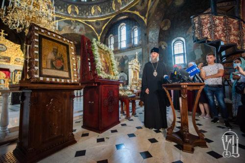 Брифінг у Києво-Печерській Лаврі: До столиці прибули чудотворні ікони Богородиці для участі у святкуваннях Дня Хрещення Русі