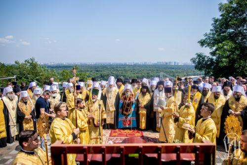 Предстоятель Української Православної Церкви очолив урочистий молебень на Володимирській гірці до Дня Хрещення Русі (фото)