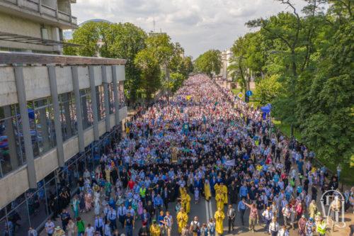 350 тисяч вірян взяли участь у Великому Хресному ході в День Хрещення Русі (фото, відео)