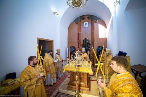 Митрополит Онуфрій освятив престол на честь великомучениці Катерини в Успенському соборі Харкова