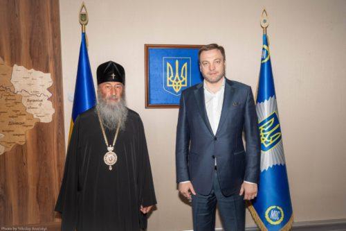 Блаженніший Митрополит Онуфрій зустрівся з новопризначеним міністром Внутрішніх справ України Денисом Монастирським