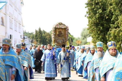 У Святогірській Лаврі відбулися святкування на честь головної святині Донбасу – Святогірської ікони Богородиці