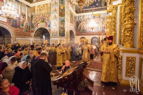 Напередодні Неділі 17-ї після П'ятидесятниці Предстоятель очолив всенічне бдіння у Києво-Печерській лаврі